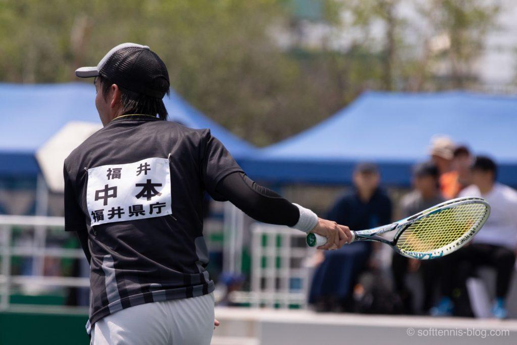 中本選手の使用ソフトテニスラケット(2019年)