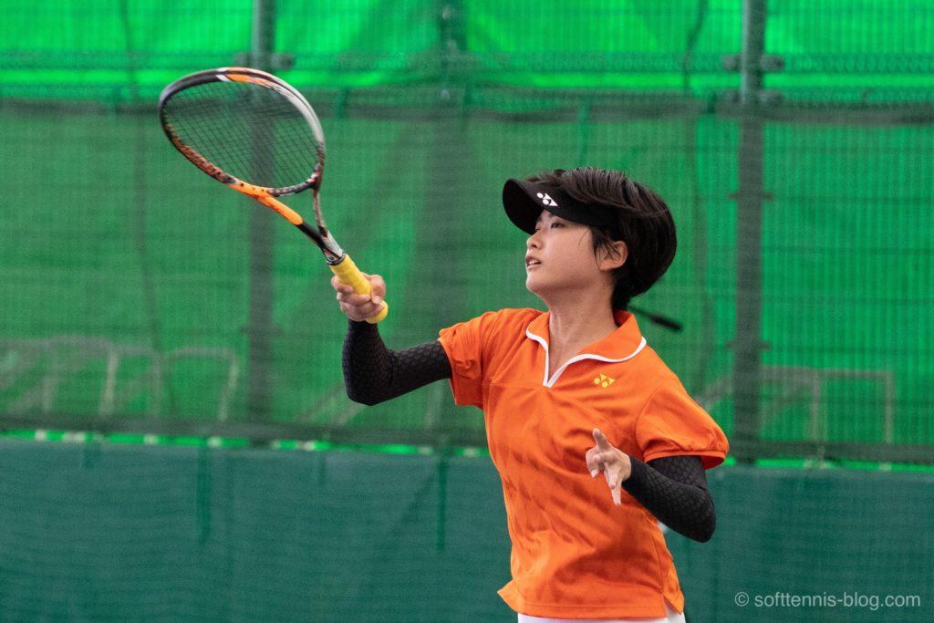 尾上選手の使用ソフトテニスラケット(2019年)