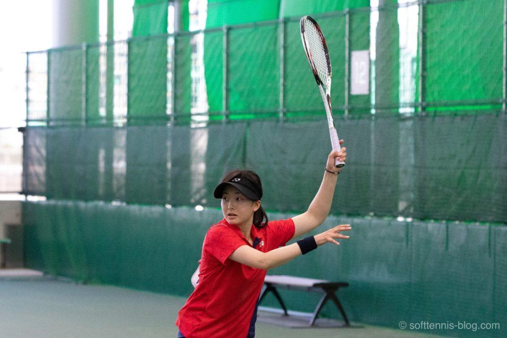 貝瀬選手の使用ソフトテニスラケット(2019年)