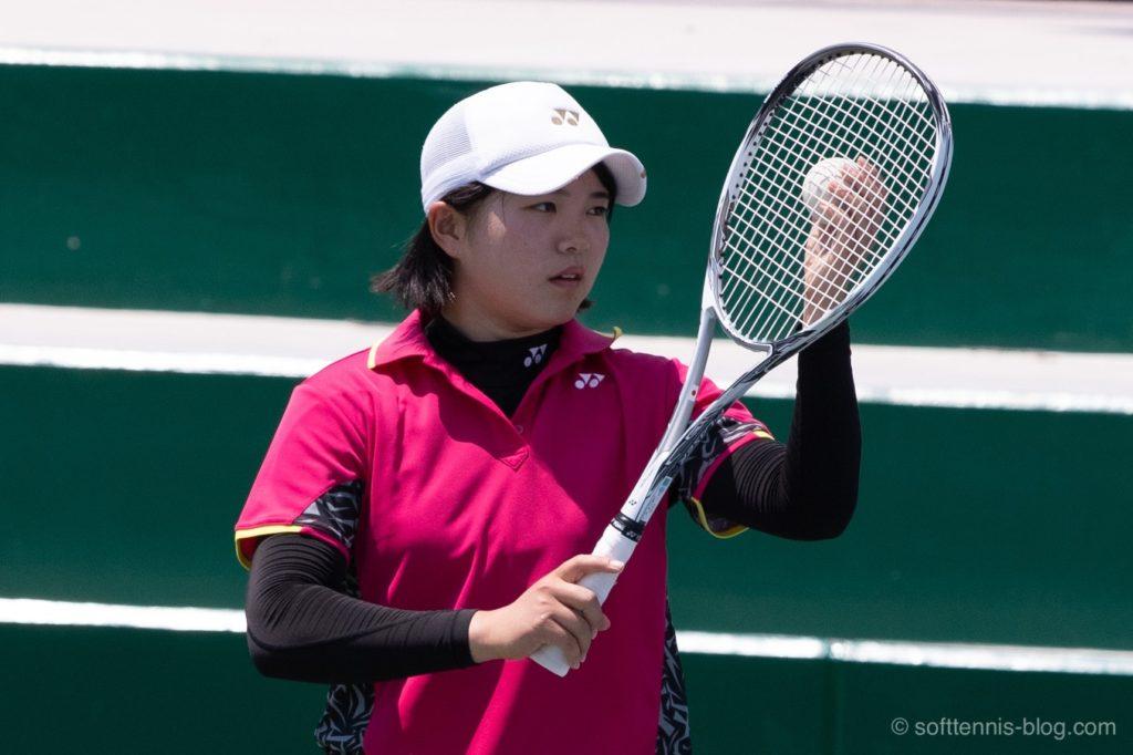 林田選手の使用ソフトテニスラケット(2019年)