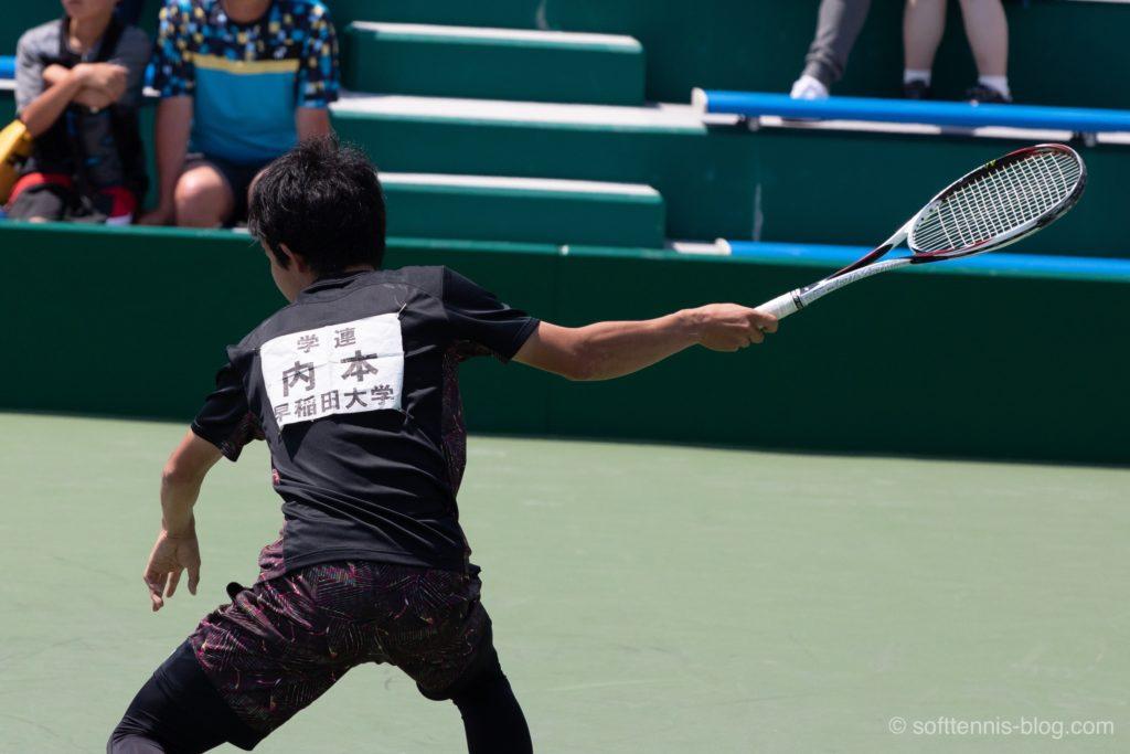 内本選手の使用ソフトテニスラケット(2019年)