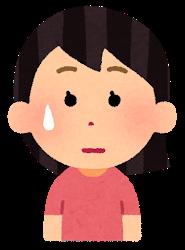汗をかいている女の子のイラスト