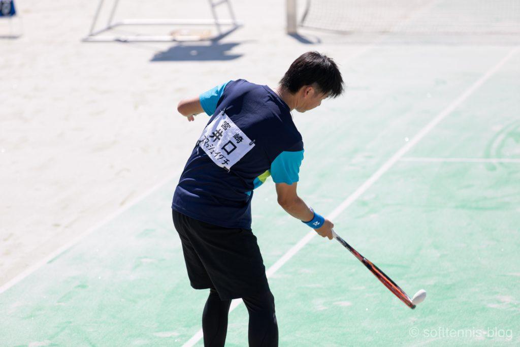 井口雄一選手(ソフトテニス)の画像