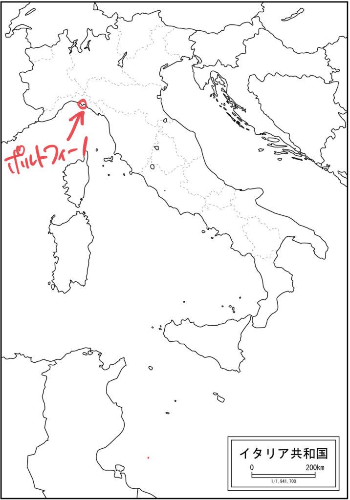 ポルトフィーノの地図