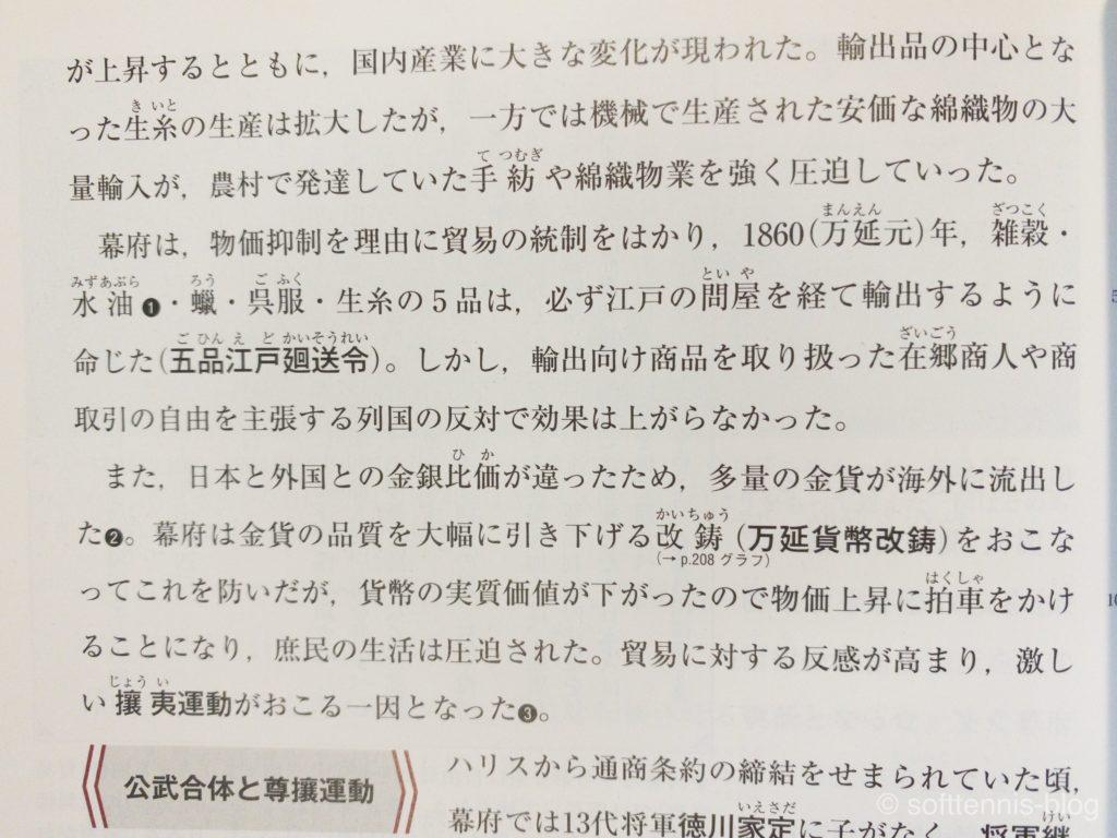 『詳説日本史B』の画像