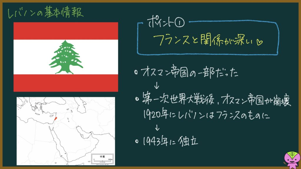 レバノンってどんな国?元社会科教員がざっくり解説するための画像