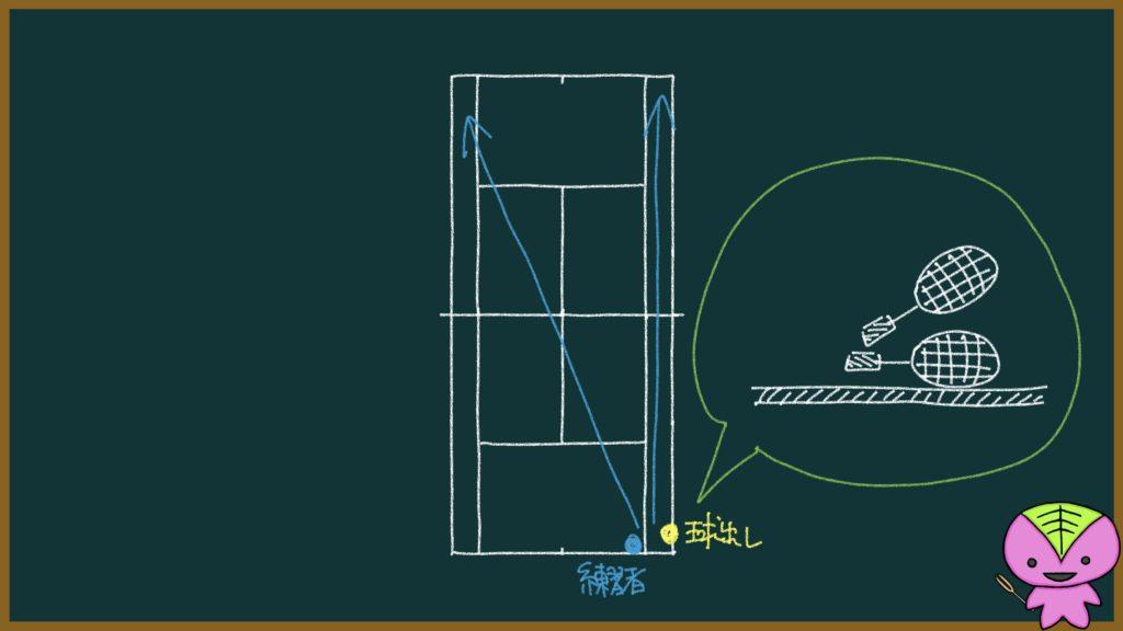 【91ページ目:もちおのソフトテニスノート】手投げ(手出し)の練習メニュー