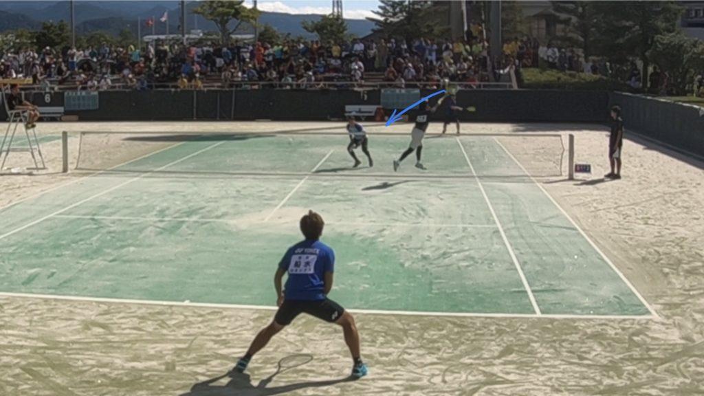 【ソフトテニス】正クロス展開からの仕掛け方(右ストレートボレー)
