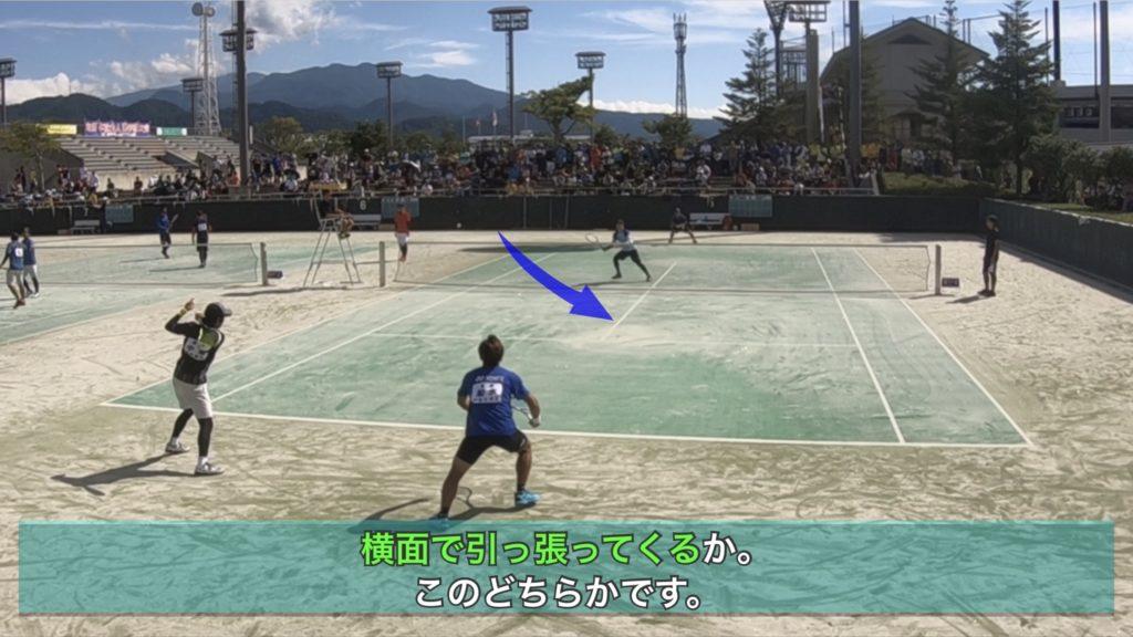 【ソフトテニス】強い後衛はフォローの動きをサボらない