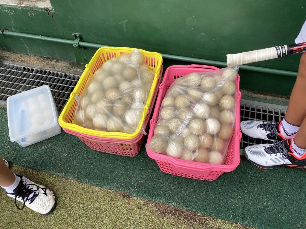 【175ページ目:もちおのソフトテニスノート】ボール管理術とベースラインの内側の乱打の意図(TNBソフトテニスクラブ見学Vol.3)