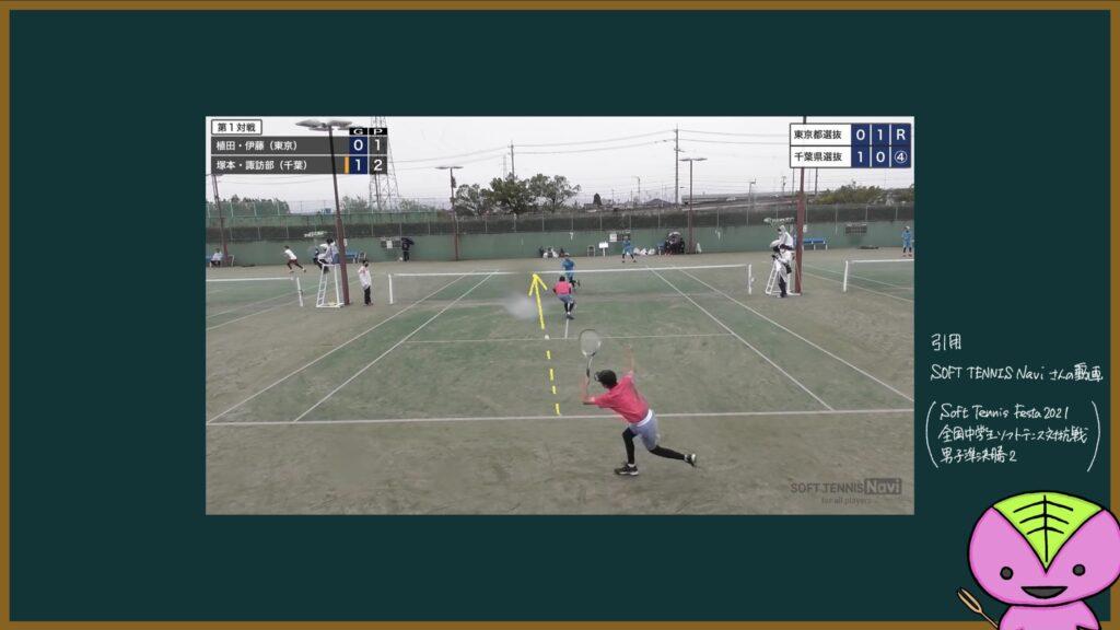 【455ページ目】ソフトテニスフェスタ2021準決勝第1試合の分析1【もちおのソフトテニスノート】